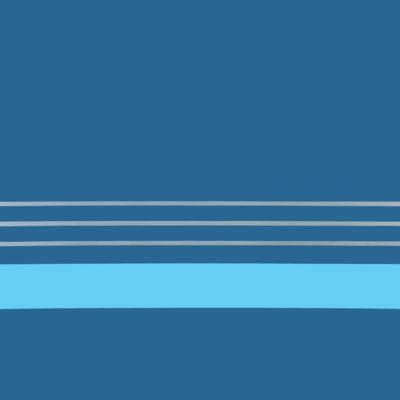 N. 31 Azzurro-argento-celeste. Nitro su metallo cm 100x100. 1974