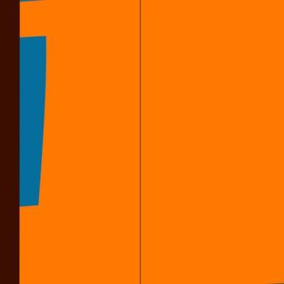 PAG. 86-87 Arancio-azzurro-amaranto. Pannello nitro su metallo cm 100x200. 1974