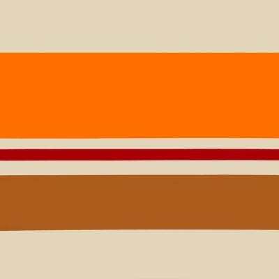 PAG. 91 Beige- arancio-rosso-oro.Nitro su metallo cm 100x100. 1973