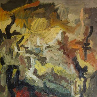 Pag. 12 Paesaggio. Olio su tela cm 100x80. 1964
