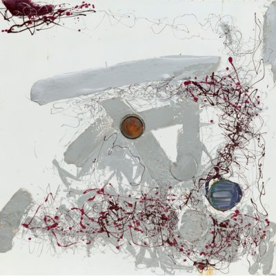 Pag. 97 29. Senza titolo. Coperchi, nitro su metallo cm 100x100. 1974